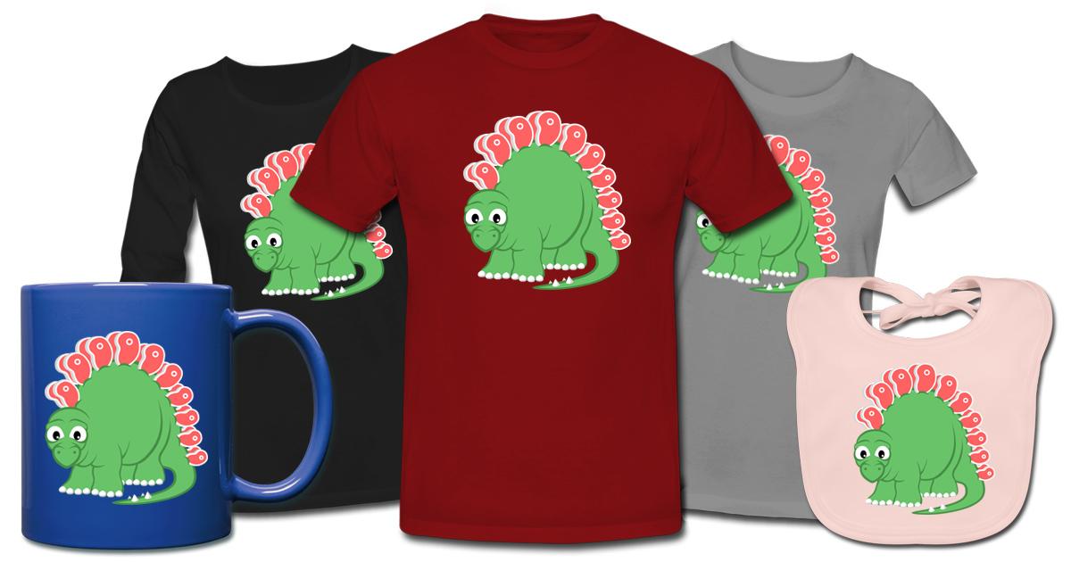 Steakosaurus T-Shirts, Tassen und mehr